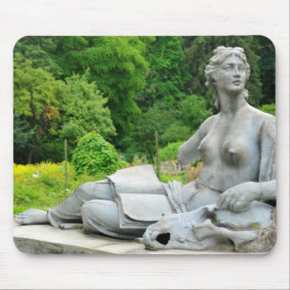 Bronze statue depicting woman mouse pad