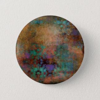 Bronze, Teal, Purple Abstract 2 Inch Round Button
