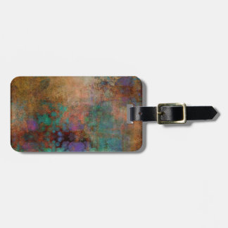Bronze, Teal, Purple Abstract Luggage Tag