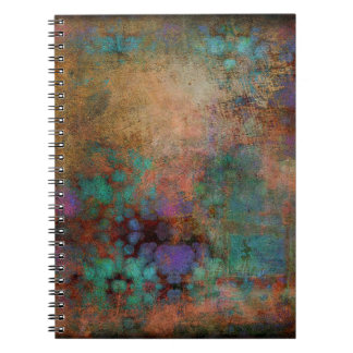 Bronze, Teal, Purple Abstract Notebooks