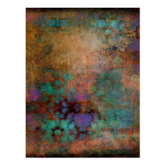 Bronze, Teal, Purple Abstract Postcard