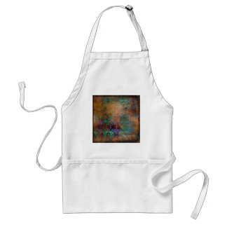 Bronze, Teal, Purple Abstract Standard Apron