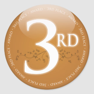 Bronze Third Place 3rd Award Stickers