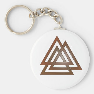 Bronze Valknut Keychain