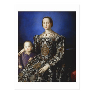 Bronzino Eleanor of Toledo and Her Son Postcard