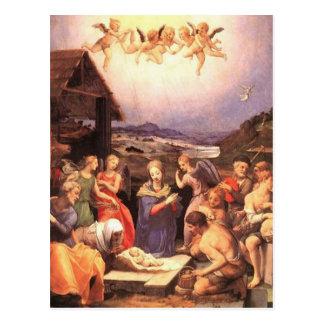 Bronzino - The Adoration of the Shepherds Postcard
