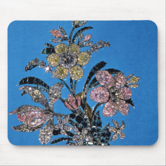 Brooch in form of large bouquet with brilliant mouse pad