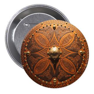 Brooch Targe Pinn 3 Inch Round Button