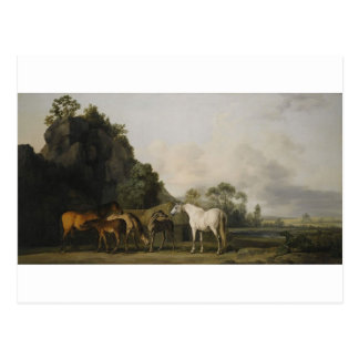 Brood Mares and Foals by George Stubbs Postcard