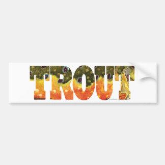 Brook Trout Art Bumper Sticker