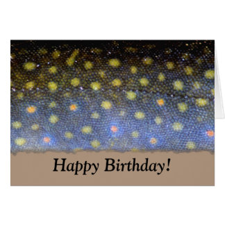 Brook Trout Birthday Card