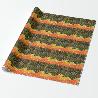 Brook Trout Fish Skin Fly Fishing Wrapping Paper
