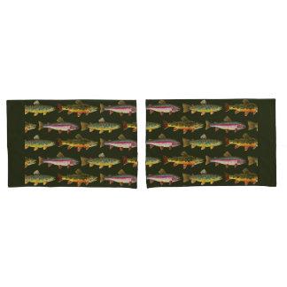 Brook Trout Fishing Pillowcase
