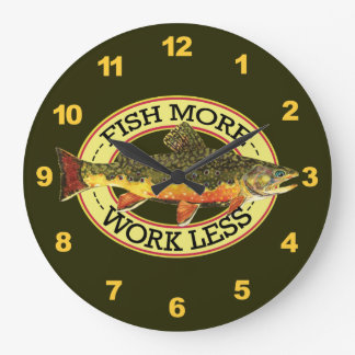 Brook Trout Fly Fisherman's Large Clock