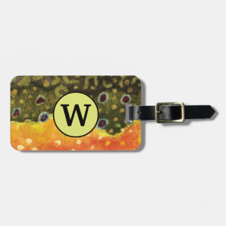 Brook Trout Fly Fisherman's Luggage Tag