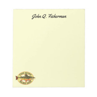 Brook Trout Fly Fisherman's Notepad