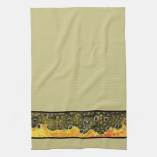 Brook Trout Fly Fishing Angler's Kitchen Towel