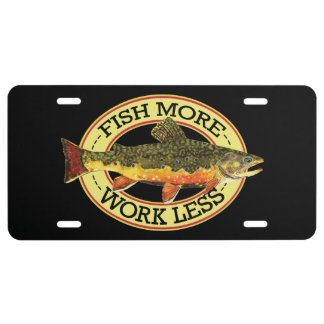 Brook Trout Fly Fishing License Plate