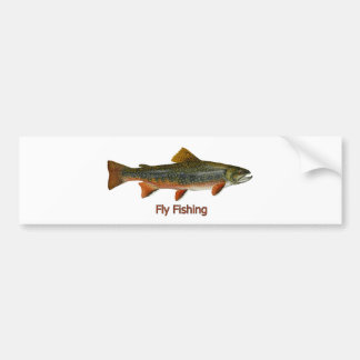 Brook Trout Fly Fishing Logo Bumper Sticker