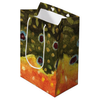 Brook Trout Fly Fishing Medium Gift Bag