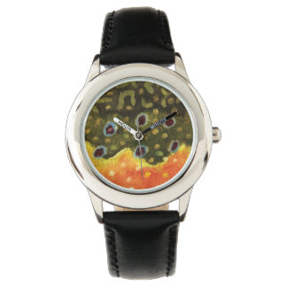 Brook Trout Fly Fishing Wristwatches