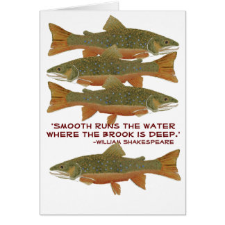 Brook Trout Greetings Card