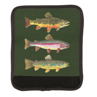 Brook Trout Rainbow Trout Brown Trout Fishing Trip Luggage Handle Wrap