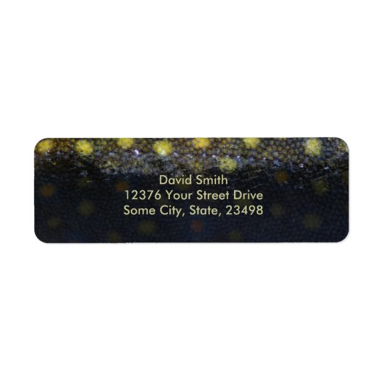 Brook Trout Scales Photography Return Address Label