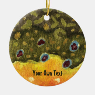 Brook Trout Skin Fly Fishing Ceramic Ornament