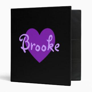 Brooke in Purple 3 Ring Binder
