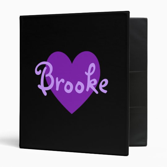 Brooke in Purple Binders