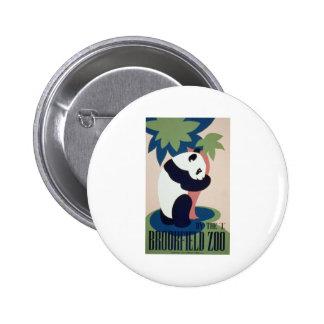 Brookfield Zoo Panda 2 Inch Round Button