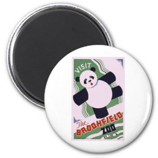 Brookfield Zoo Panda 2 Inch Round Magnet