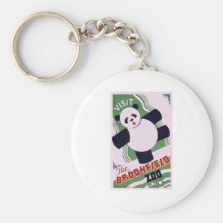 Brookfield Zoo Panda Basic Round Button Keychain