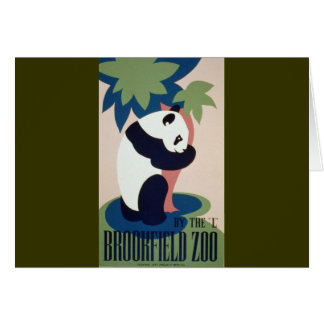 Brookfield Zoo Panda Card