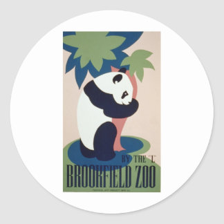 Brookfield Zoo Panda Classic Round Sticker