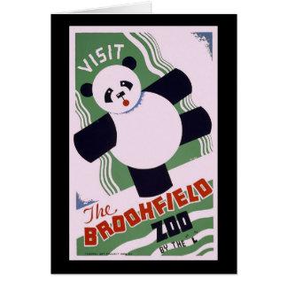 Brookfield Zoo Panda Greeting Card