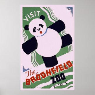 Brookfield Zoo Panda Poster