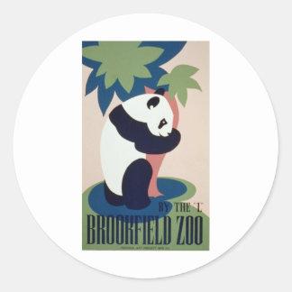Brookfield Zoo Panda Round Sticker