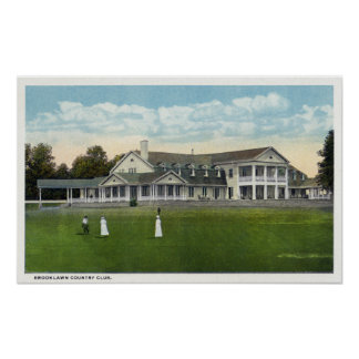 Brooklawn Country Club Women Golfing Poster