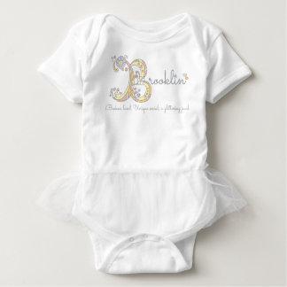 Brooklin girls name decorative custom meaning baby bodysuit
