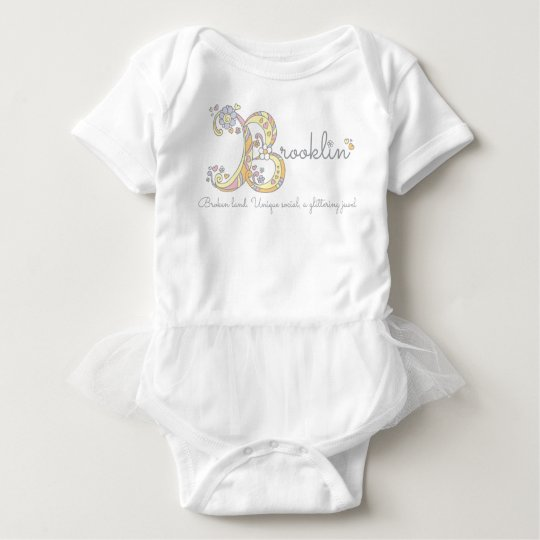 Brooklin girls name decorative custom meaning baby bodysuit