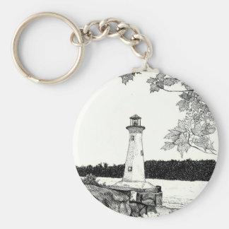 Brookline, NH -Lighthouse Keychain