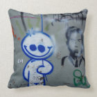 brooklyn art urban grafitti edgy graphic new york throw pillow