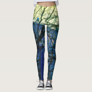 Brooklyn Blues Yoga Exercise Running Leggings