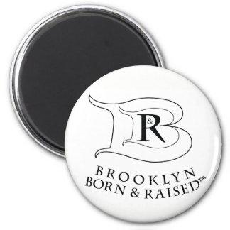 BROOKLYN BORN & RAISED LOGO ROUND MAGNET