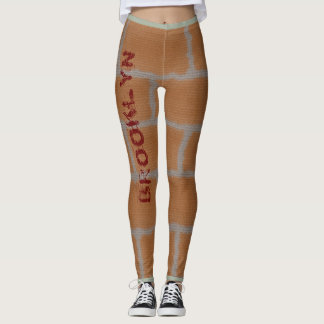 Brooklyn brick wall design leggings