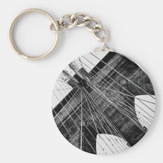 Brooklyn Bridge abstract keychain
