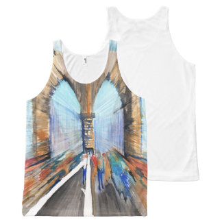 Brooklyn Bridge All-Over-Print Tank Top