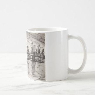 Brooklyn Bridge and a Grey Sky Coffee Mug